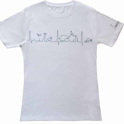 T-shirt - heartline design - white