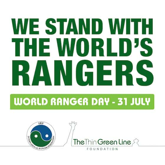 Image of banner I stand with the Rangers World Ranger Day