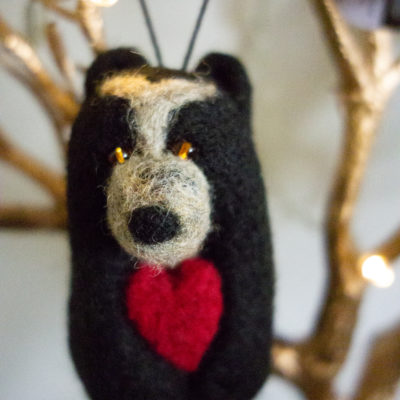 Felt Spectacled Bear